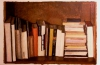 Bookshelf 1, 1984, oil on paper, 56x76 cm