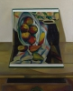 Cézanne, nature-morte avec fruits, 1989, huile sur toile, 100x81 cm