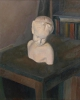 Still life with a plaster sculpture-1, 1986, oil on canvas, 73x60 cm